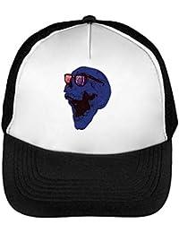 Rock   Roll Skull Gorras Hombre Snapback Beisbol Negro Blanco One Size f3dd9321cb9