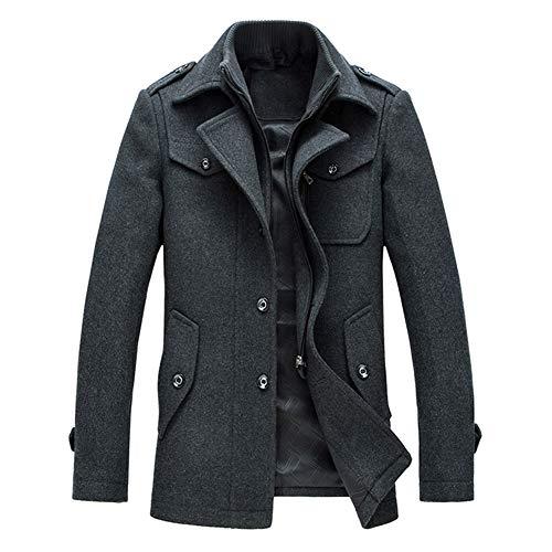 YOUTHUP Herren Wintermantel mit Stehkragen und Hochwertige Materialqualität Lange Jacke -