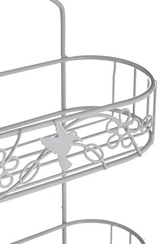 Ablagen, Schalen & Körbe für Die Ecke, Zweistöckig, Aluminium, Verchromt, Rost Rational Tesa Aluxx Duschablage
