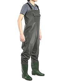 Pantalon Cuissard avec bottes de peche pecheur Impermeable pluie vasiere etang