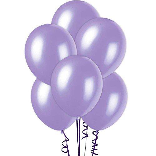 Gifts 4 All Occasions Limited SHATCHI-418 - Globos metálicos de látex perlado (25 unidades), color morado