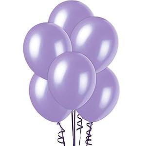 Gifts 4 All Occasions Limited SHATCHI-189 - Globos de látex (15 unidades, 30,5 cm), color morado metálico
