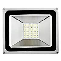 50W LED Flood Light, Outdoor Spotlight, Cold White(6000-6500K), Waterproof IP65, AC 200-240V, Security Lights, 3500LM by Yuanline