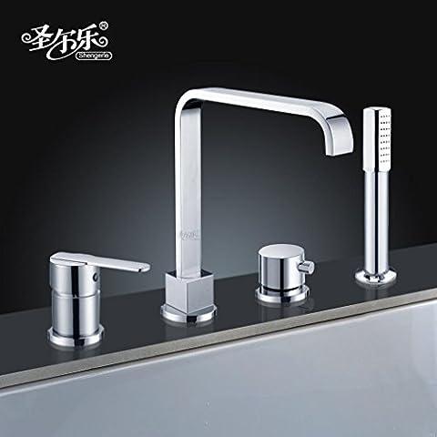 OrgthngRubinetto di cucina tutti rame foro quattro Split Bagno doccia suite doccia poroso doppio lavandino rubinetto rubinetti