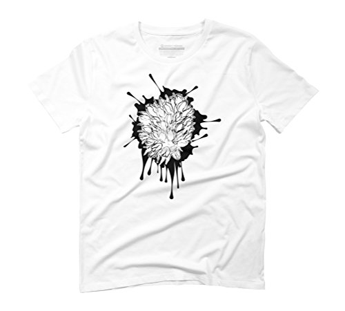 Grunge tulips sketch Men's Graphic T-Shirt - Design By Humans White