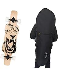 MAXOfit® sac de transport noir pour Longboard mesurant jusqu à 120cm (66481)