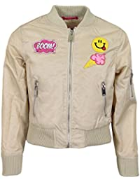 Urban Republic Girls' Poly Twill Bomber Jacket