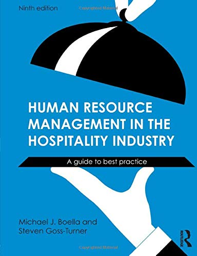 Human Resource Management in the Hospitality Industry PDF Books