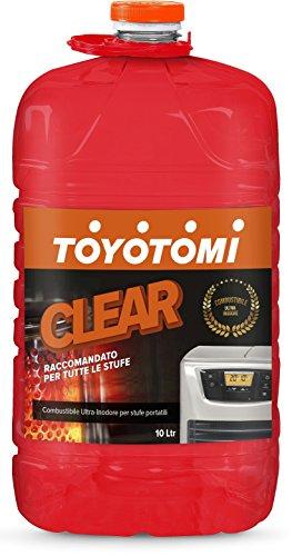 Toyotomi 2828554 Clear, Combustibile Universale per Stufe Portatili, Arancione, 10 litri