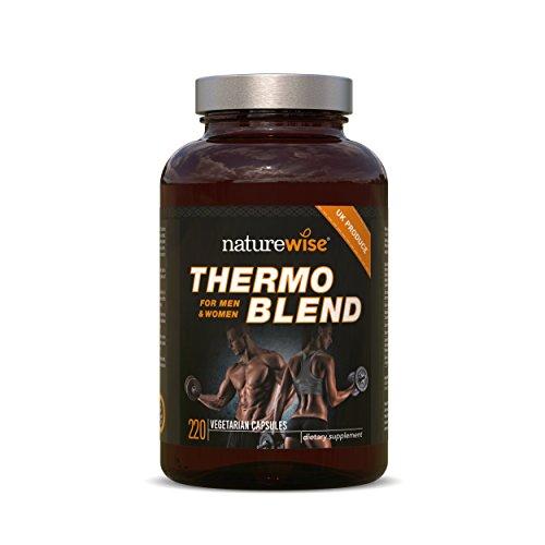 *Fatburner Thermo Blend | NEUE FORTGESCHRITTENE FORMEL | Thermogener Fatburner für Gewichtsverlust und natürliche Energie | (220 vegetarische Kapseln)*