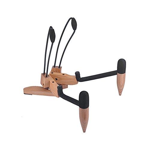 ammoon Musikinstrument Ständer Hartholz Zusammenklappbares Falten Musikinstrument Ständer Halterung Halter für Akustik Folk Klassische Gitarre Cello Natur Holz Farbe
