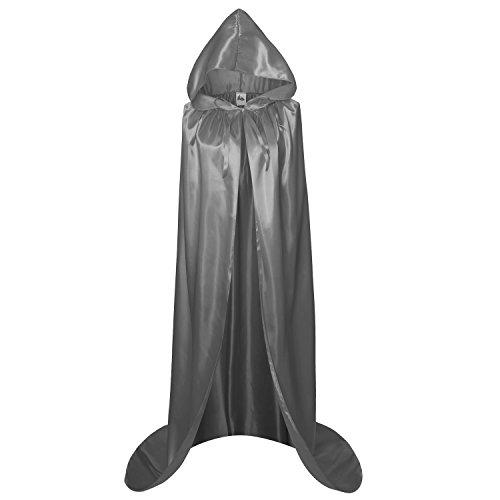 apuze, für Erwachsene, Weihnachts-Kostüm, Umhang für Halloween, Partys - grau - X-Groß ()