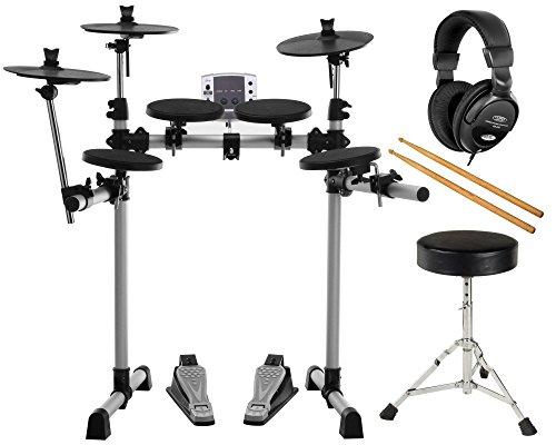 XDrum DD-400 E-Drum-Set Komplettset mit Kopfhörer, Drumhocker und Sticks
