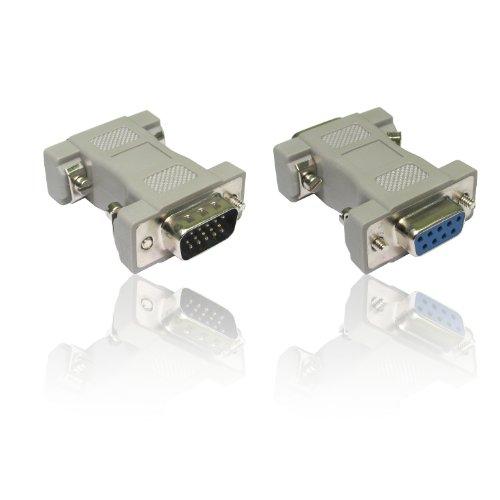 Adaptador VGA DB9 hembra a HD15 pines macho adaptador de