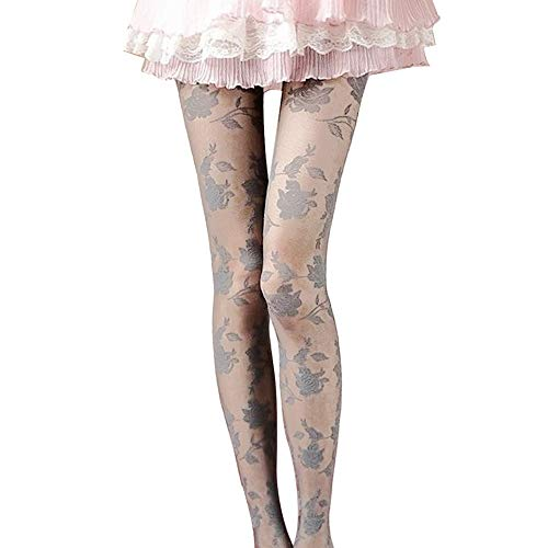 0d6b9d6cbe0 hmtitt Women Transparent Tights, Sexy Ladies Panty Hose Charming Rose  Pattern See-Through High