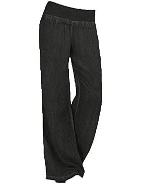 Saoye Fashion Pantalones Mujer Pantalones De Tiempo Libre Pantalon Anchos Elastische Taille Tallas Grandes Elegantes...