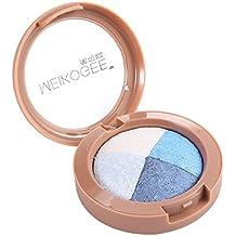 Paleta de sombra de ojos de 4 colores, pigmentada en alta calidad, para crear maquillaje de estilo coreano o japonés, uso diario y profesional.