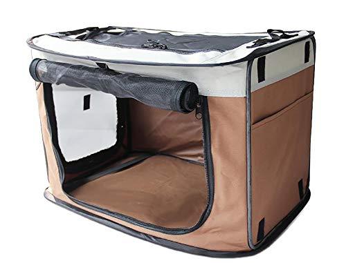 WXMJ Tragbare Zwinger wasserdichte Haustierkasten Auto Draht Faltbare extra große mittlere und kleine Hundebox-Coffee-S (Tragbare Große Hundebox)