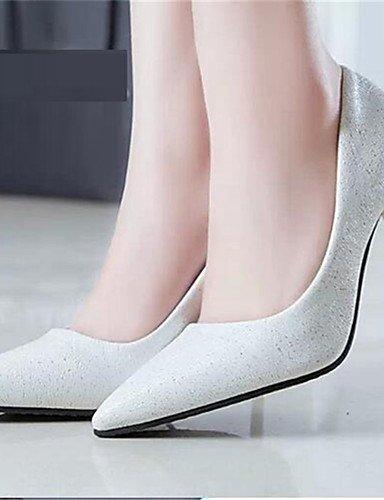 WSS 2016 Chaussures Femme-Soirée & Evénement-Noir / Violet / Blanc-Talon Aiguille-Talons-Talons-Similicuir white-us6.5-7 / eu37 / uk4.5-5 / cn37