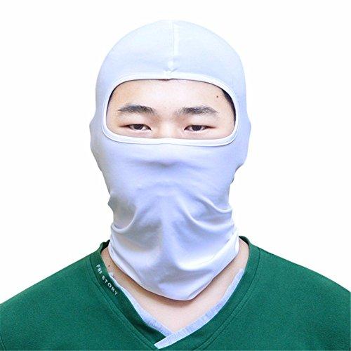 Anti-Sun Maske Motorrad Ausrüstung atmungsaktiv winddicht Kopf Maske perücke Outdoor Reiten sun, (Schnee Weißen Perücken)