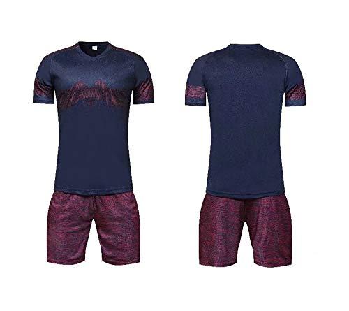 ITPDJKE Fußball Uniformen Herren Fußballbekleidung Jacke Hosenanzug Kurzarm Shorts Anzug Sportbekleidung Wettkampfanzug