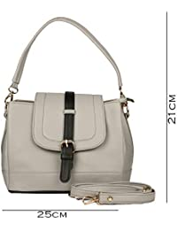 Deniza Women Sling Bag Grey And Black