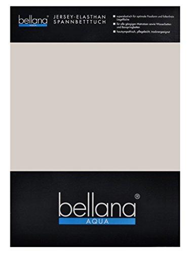 Mädchen Frottee-cover (bellana® AQUA Jersey Multifunktions-Spannbettlaken für Wasserbetten in Normal- und Übergrößen, 180-200x200-220 cm in taupe)