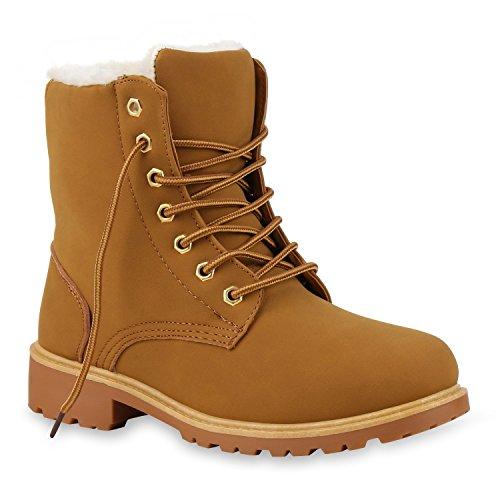 Stiefel Weiß Kostüm Herren (UNISEX Damen Herren Warm Gefütterte Damen Worker Boots Stiefeletten Outdoor Schuhe 130463 Hellbraun Gold Weiss 38 |)