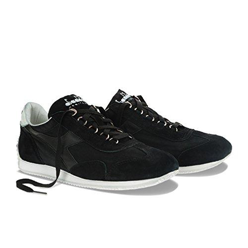 Diadora Equipe Stone Wash 12, Chaussures Basses Mixte Adulte, Blu + Bianco C0200 - NOIR BLANC