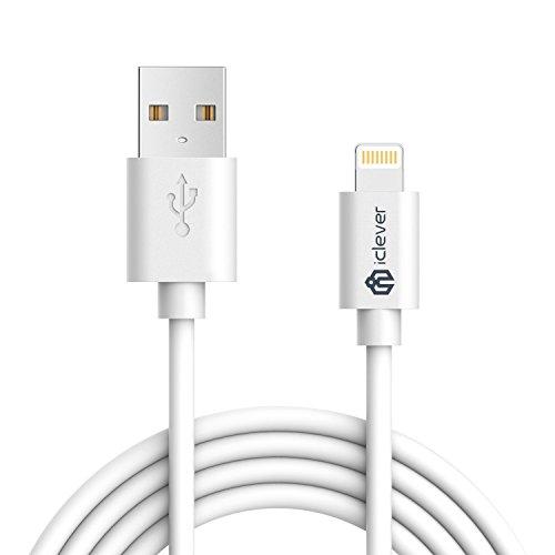 iPhone Ladegerät Kabel, 6ft 1,8m [Apple MFi Zertifiziert] Premium 8Pin Lightning auf USB-Kabel mit Ultra Kompakten Stecker Kopf für iPhone X/8/8Plus/7/7plus/6/6S Plus/5S, iPad Air/mini/Pro (Apple Lightning-kabel 6 Feet)