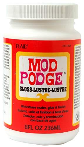 Mod Podge 8 oz Waterbase Sealer, Glue and Finish, Gloss