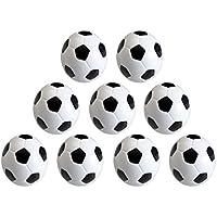 vientiane 9 piezas Mini 32 mm Mesa Futbolín, Balones de Fútbol, Pelota de Recambio de Protección Ambiental de Plástico para Juego de Juguete Infantil (Blanco Negro)