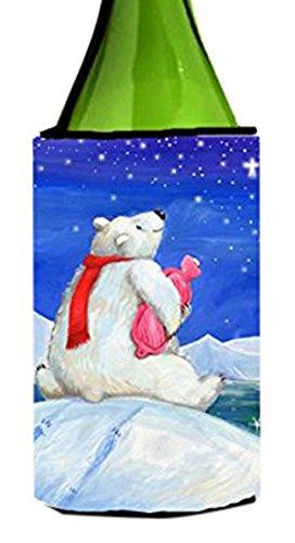 carolines-treasures-cdco0488literk-polar-bear-with-hot-water-bottle-wine-bottle-beverage-insulator-h