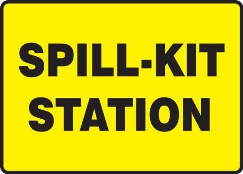 Letreros Seguridad Pegatinas Spill-Kit Station, Divertidos
