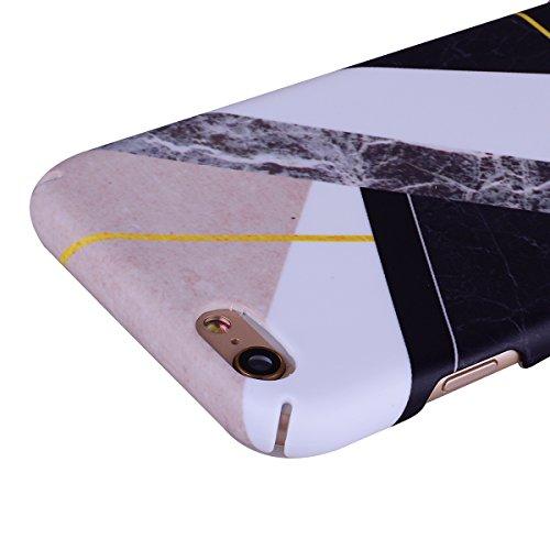 KANTAS Coque Marbre Hard PC pour iPhone 6S Plus iPhone 6 Plus Etui Plastique Rigid Housse Dur Full Protection Case Motif Marble Triangle Rose Design Ultra Fine Lightweight Housse Grip Étui de protecti Mélanger