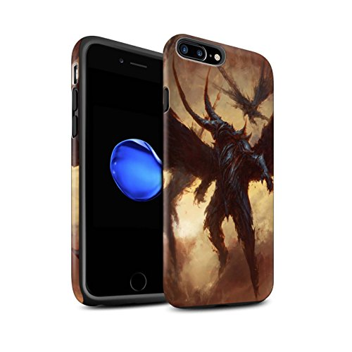 Offiziell Chris Cold Hülle / Matte Harten Stoßfest Case für Apple iPhone 7 Plus / Raubtier/Jäger Muster / Wilden Kreaturen Kollektion Flügel von Nox