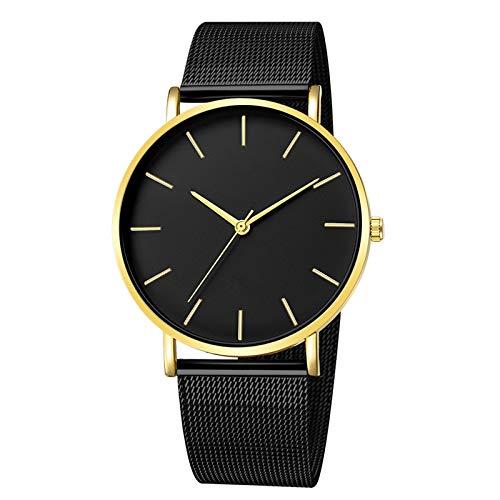 SHOUB Montre Femme Reloj Mujer Orologio al Quarzo Nero Donna Maglia Acciaio Inossidabile Bracciale Orologio da Polso Casual per Donna