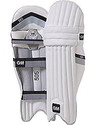 Gunn & Moore 505–Espinilleras para bateador de Cricket Batsman protección de piernas para jóvenes, color multicolor, tamaño Youth RH