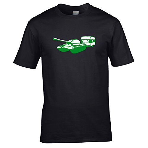 Tank und wohnwagen T-shirt Schwarz