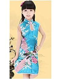 Robe chinoise déguisement tenue enfant,bébé 0 à 12 ans (A) 1/2 ans,2/4 ans,4/6 ans,6/8 ans,8/10 ans,10/12 ans