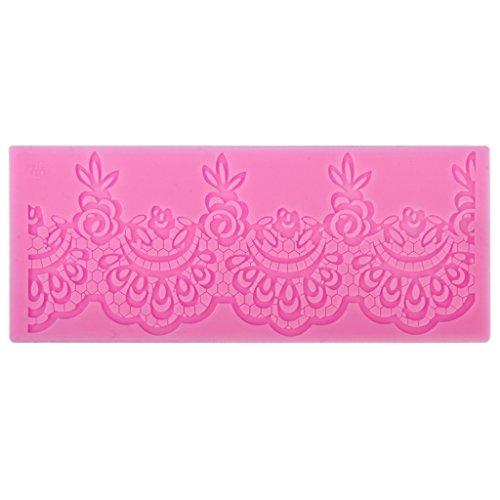 Fondant Silicona Encaje Pastel Arte Del Azúcar De La Torta Tapete Molde Textura Decoración