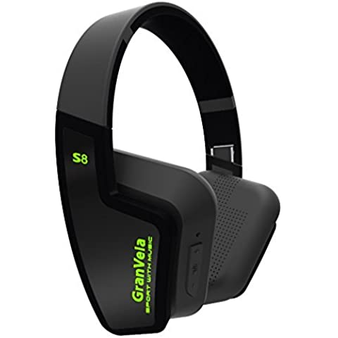 GranVela® S8 Bluetooth 4.0 wireless pieghevole delle cuffie con microfono