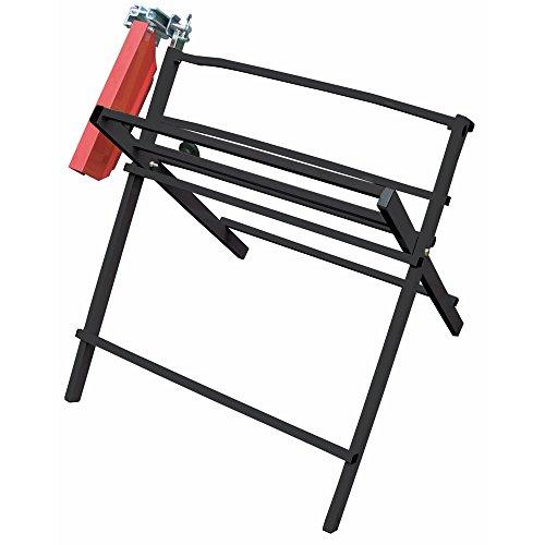 pro-bau-tec Sägebock mit Kettensägenhalterung, schwarz, 10018