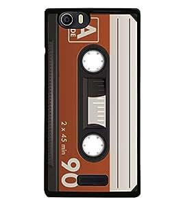 Fuson 90 Minutes Cassette Designer Back Case Cover for Micromax Canvas Nitro 2 E311 (Parish Wonder Vintage Eiffel Tower Car Bike Scooter Cassette Coffee)