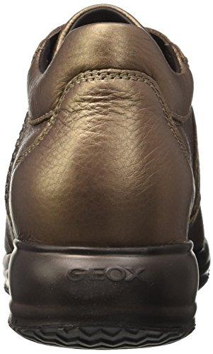 Geox D Happy C, Scarpe da Ginnastica Basse Donna Grau (Leadc9003)