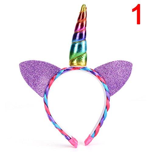 1PCS Mädchen Einhorn Horn Kopfband mit Blumen für Einhorn Cosplay Kostüm Party von Gastgeschenken toyzhijia