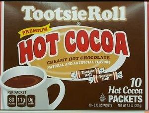 Tootsie Roll Premium Hot Cocoa Creamy Hot Chocolate Drink Mix 10 Single Serve Sachets 207g Box