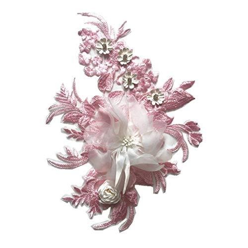 Frauen-Mädchen-Stickerei Kleidung Paste 3D Blumen-Blatt-Applikation Stereo Anlage Kostüm Patches Mengonee