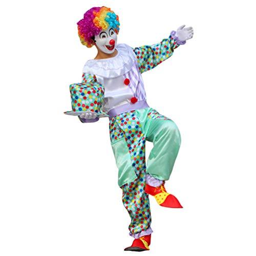 Haobing Unisex Clown-Kostüm Fasching Halloween Karneval Kostüm Cosplay Maskerade Fancy Dress (ZC-010, CN ()