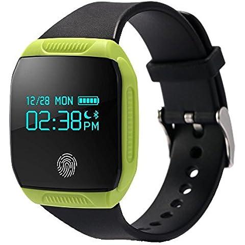 Boblov Muñequera inteligente E07S impermeable, Actividad de Salud ,rastreador de ejercicios Bluetooth Deportes Pulsera de sincronización para Android y IOS inteligente Banda (verde)